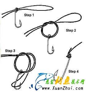 钓鱼 鱼钩的绑法,鱼钩的捆绑