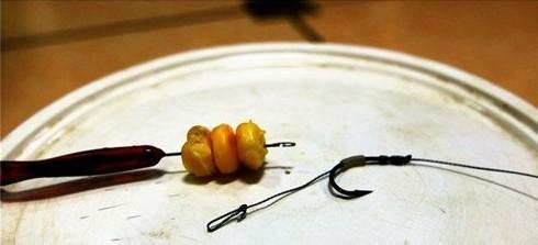 自制(专钓大鱼)新式挂玉米粒的钩组 2