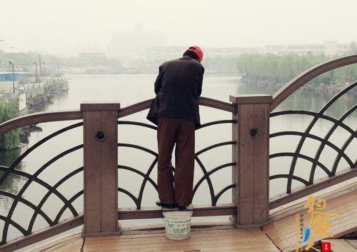 萧山南江桥上的钓鱼人 图