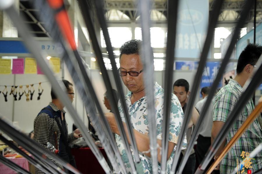 为期4天的第三届银川渔具展在宁夏银川市国际会展中心开展
