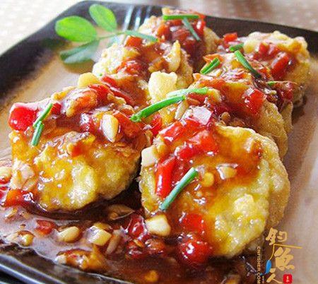 鱼虾小茄饼食材.做法