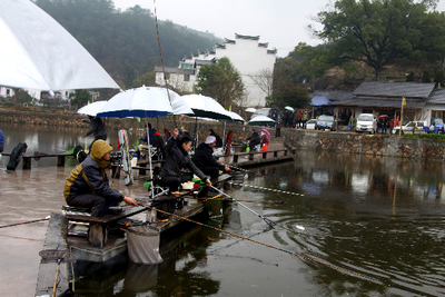 浙江建德首届钓鱼大赛在三都渔村举行 组图