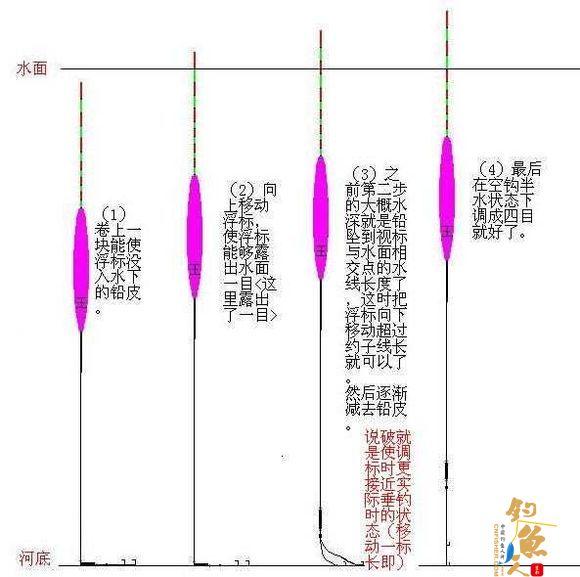 台钓的几种调标方法视图
