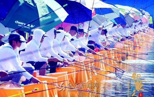 浙江省钓鱼协会等级积分赛 烈日下的垂钓竞技