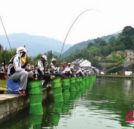 全国钓鱼竞赛训练基地落户南充市南部县升钟湖