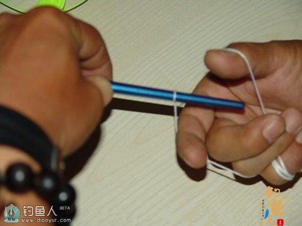 图说路亚钓前导线GT结的绑法