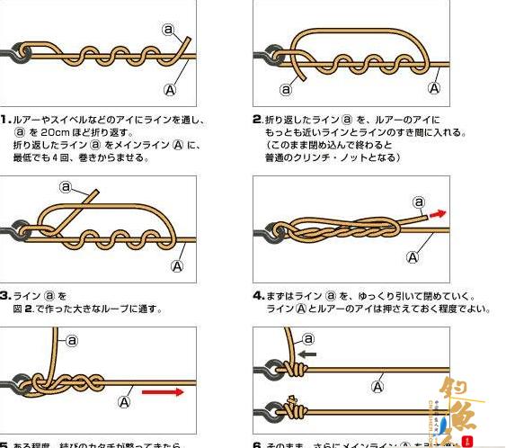 路亚鱼线的绑法 路亚绑鱼线结(动态图)