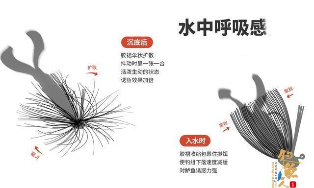 JIG钓深或钓底,建议采用原厂须毛——渔道百科绘制