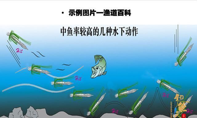拆开JIG包装,详解路亚作钓中JIG的修剪,及JIG软饵的搭配-JIG水下动作示例图——渔道百科绘制