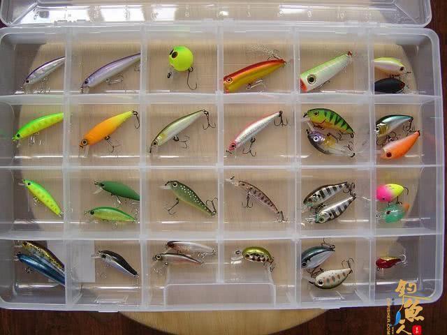 拟饵:主要分软饵、硬饵两大类。初学者建议使用软虫开始,硬饵从米诺开始练习
